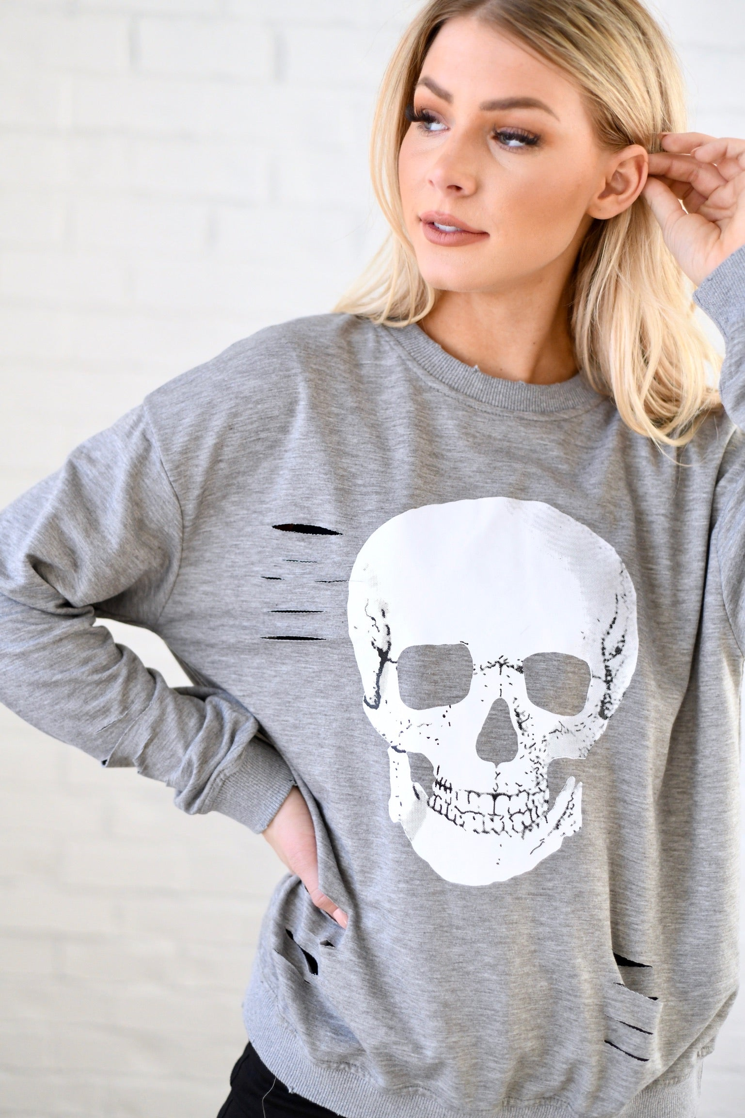 Distressed Skull Top