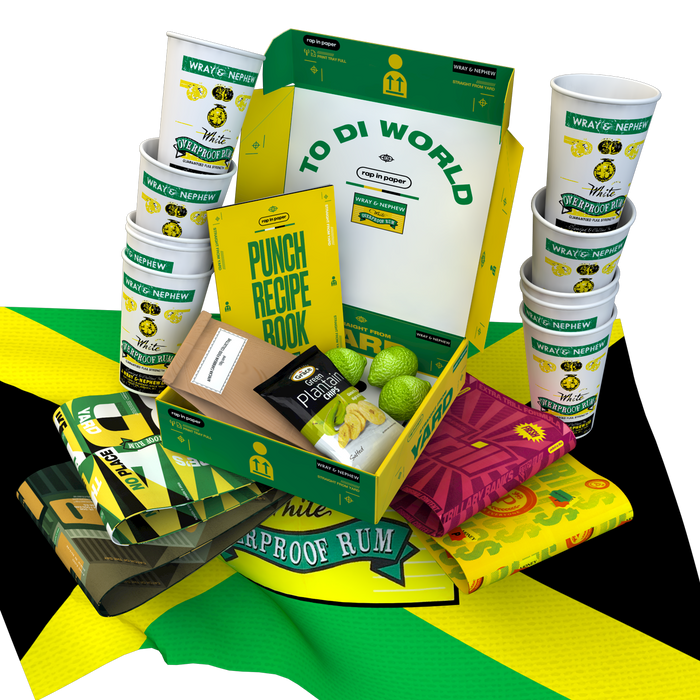 Wray & Nephew x Rap In Paper Punch Pack (Wray not included)