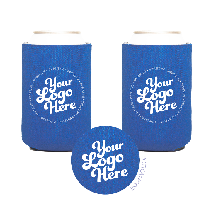 "Your Logo, Your Artwork -  Premium Can Coolers 1/8"" Scuba"