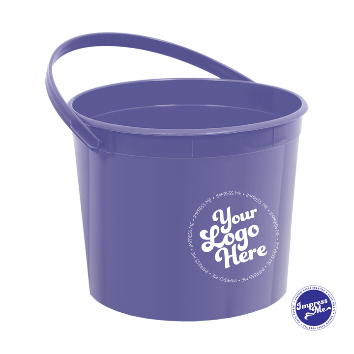 Custom Plastic Favor Bucket with Handle - Impress Me