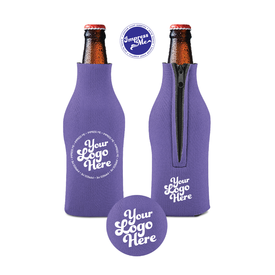 Custom Zipper Beer Bottle Coolers