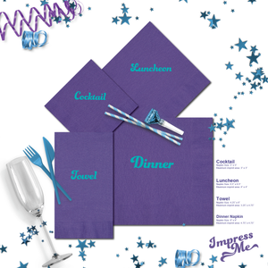 Custom 3 Ply Napkins - All Sizes