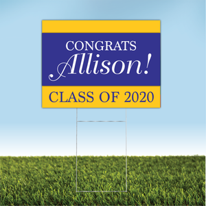 Personalized Graduation Yard Sign 01
