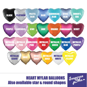 Custom Mylar Heart Balloon