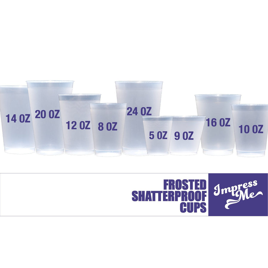 Custom Frost Flex Plastic Cups - 5 oz