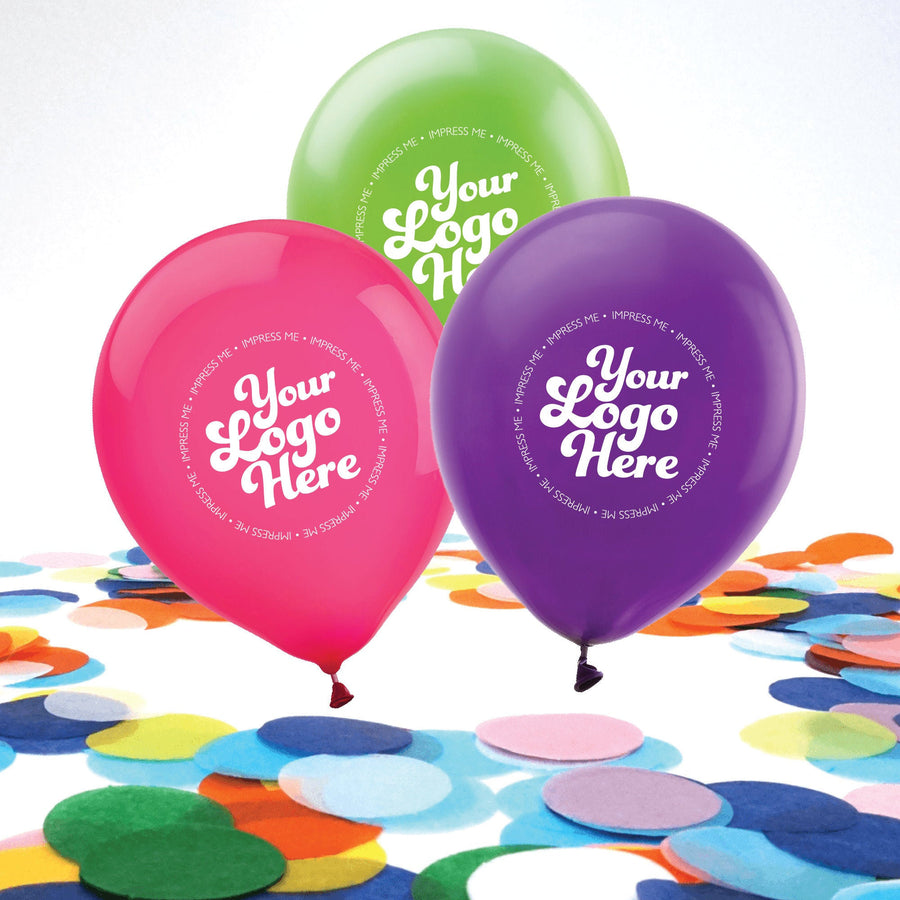 Custom Latex Party Balloons with Custom Artwork or Logo