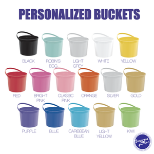 Custom Plastic Favor Bucket with Handle
