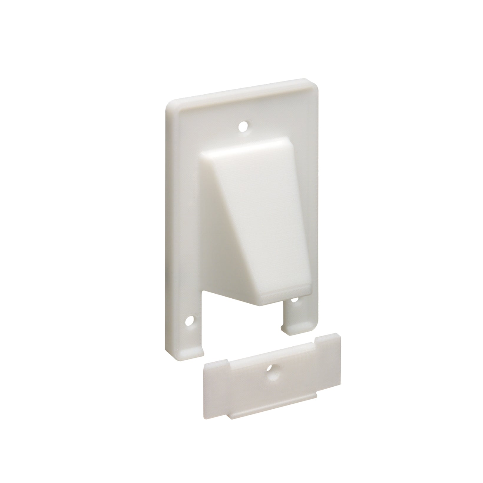 Arlington CER1/ CER2, Reversible 2 Piece Low-Voltage Cable Entrance Wallplate, White  (Each)