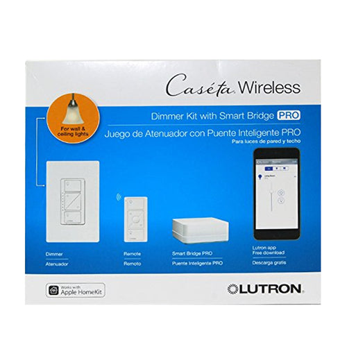 Lutron P-BDGPRO-PKG1W Caseta Wireless Dimmer Pro Kit, White