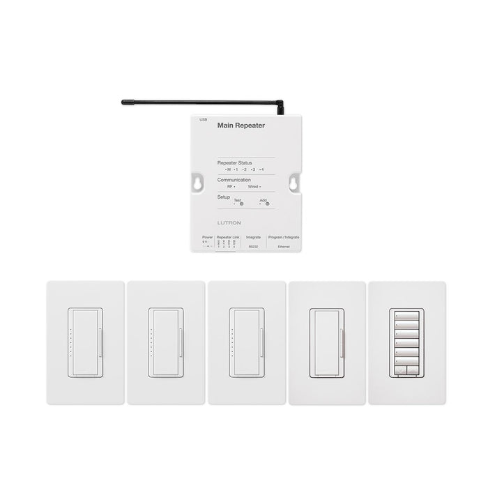 Lutron RR-FDN-CL RadioRA 2, Adaptive System Package, White on