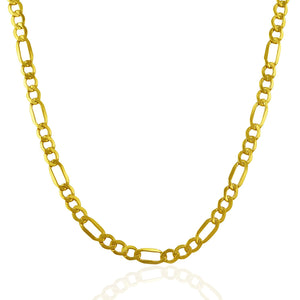 4.6mm 10K Yellow Gold Lite Figaro Chain