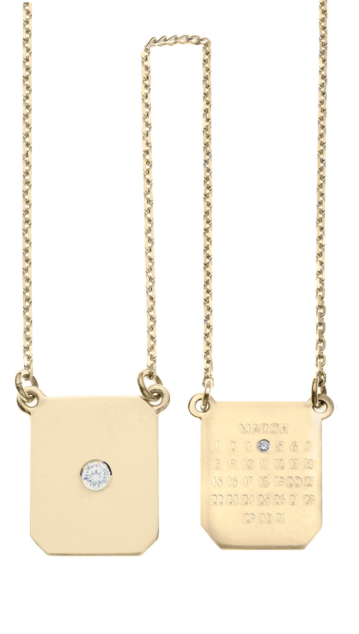 Mini Calendar Girls 2 Tags Yellow Gold