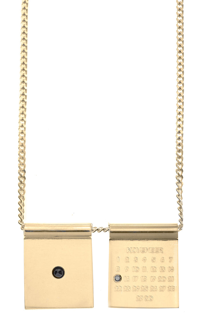 Mini Calendar Boys 2 Tags White Gold