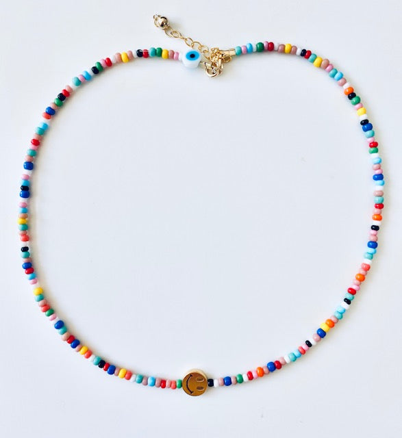 Disco Dip Beads Necklace with 1 Pendant