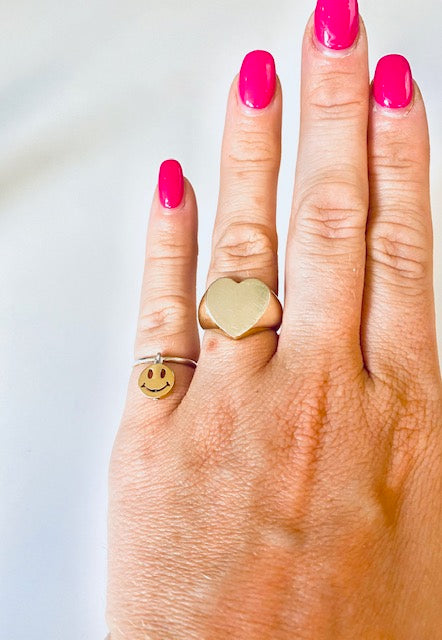 Smiley Pink Ring