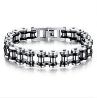 Sports Jewelry Bike Chain Link Bracelet 2 Tone