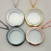 """10pcs/lot"" Glass locket fit floating charms with chain 30mm"