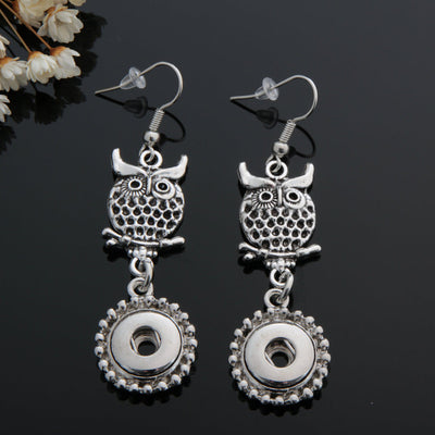 Owl 🦉 Earring  Snap 12mm Button
