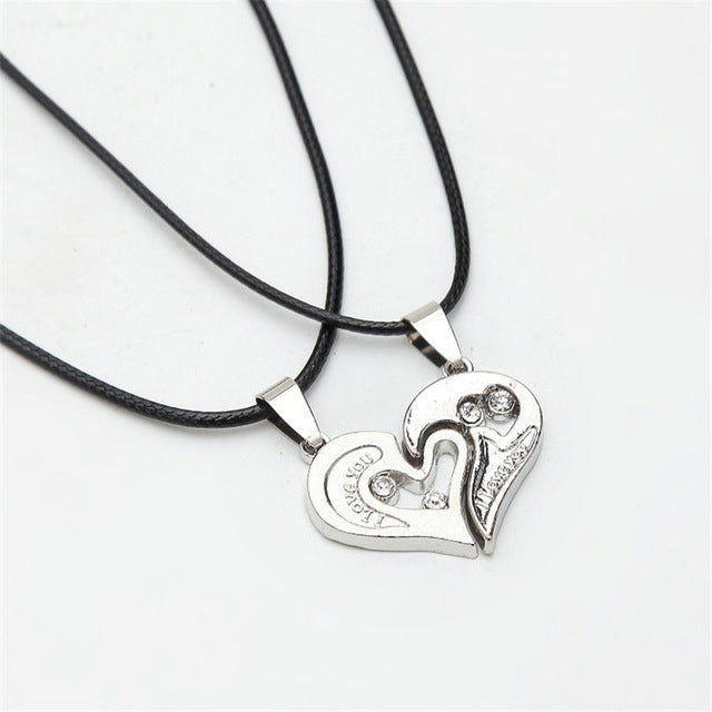 Couples Heart Necklace First Love Necklaces