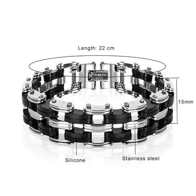 Stainless Steel Bad Biker Link Bracelet
