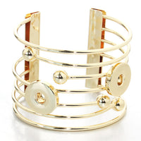 Deco Bangle Snap Fits 18mm Button