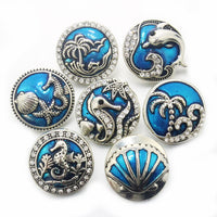 Sea Life button 18mm 10pc Lot