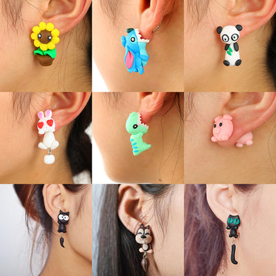 AMBER Handmade 3D Cute Cartoon Earrings