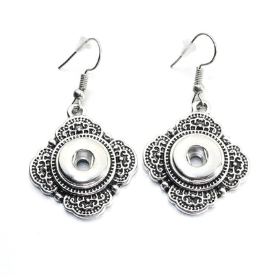 Filigree Earring Snap Fits 12mm Button