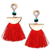 Bali Tassel Earrings Fits 12mm Buttons