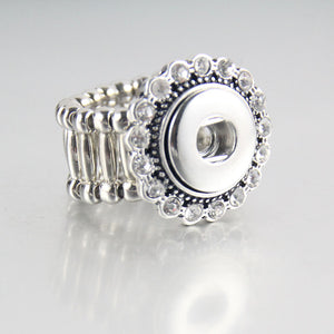 Crystal Elastic Snap Ring Fit 18mm Buttons
