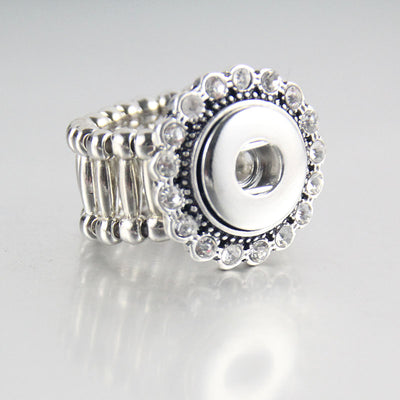 Crystal Elastic Snap Ring Fit 12mm Buttons