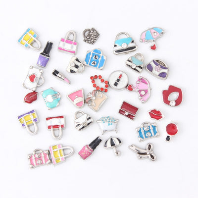 Charms For Floating Locket Jewelry 20pcs Lot