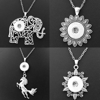 Assorted Whimsical Snap Necklace Fits 18mm snap button