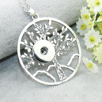 Tree of Life Snap Pendant Necklace Fits 18mm/20mm Button