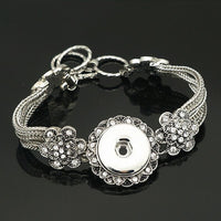 Bali Bracelets Snap Fit 18mm Buttons 16 Styles 8""
