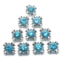 SNOWFLAKE Button Fits 12mm Snap Accessories 10pcs/lot