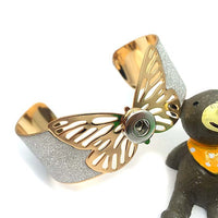 Butterfly Arm Cuff Bracelet Snap Fits 12mm / 18mm button