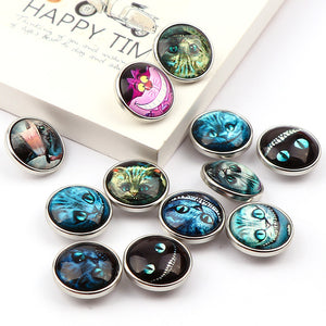 Scary Cat buttons Jewelry 12pcs 18mm