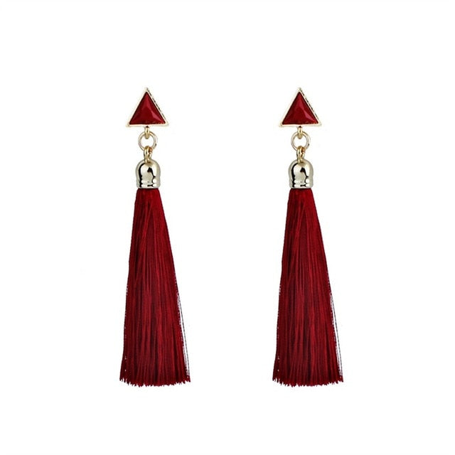 Drop Gold Bohemian Tassel Earrings