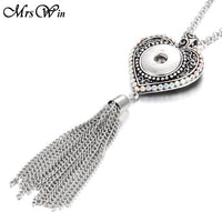 Long Drop Necklace with 80cm Chain Fits 18mm Snap Buttons