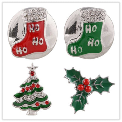 Christmas tree Stocking 18mm Button