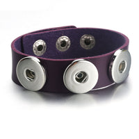 Multiple Colour Leather Snap Fit 18mm Button