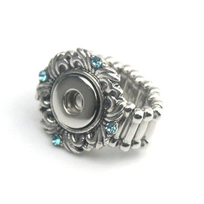 Stretchy Crystal Ring Fit 12mm Button