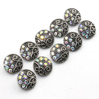 Crystal Button Fits 12mm Snap Accessory 10pcs/lot