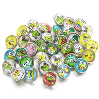 Mixed Button Fits 12mm Snap Accessory 10pcs/lot