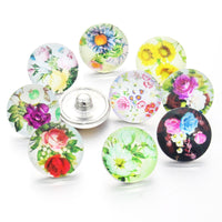 Flower Buttons Fits 18mm Snap Accessories 10PCS/lot