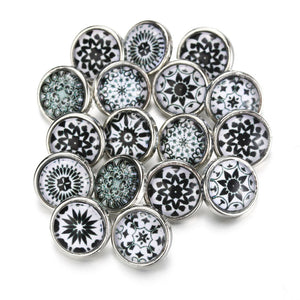 DESIGN Mixed Bohemian Snap Button10pcs/lot