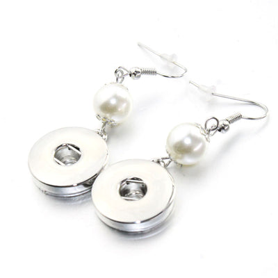 Dangle Pearl Snap Fits 18mm button