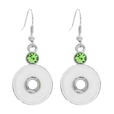 Fun Crystal Snap Earring 18mm Button
