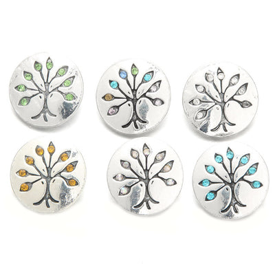 Tree of Life Buttons Fits 18mm Snap Accessories 10pcs/lot